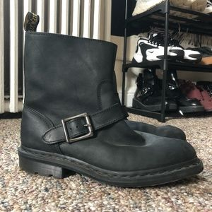 Dr Martens boots with silver buckle